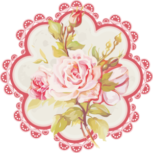 Romantic Pink Flower Border PNG Photo PNG Clip art