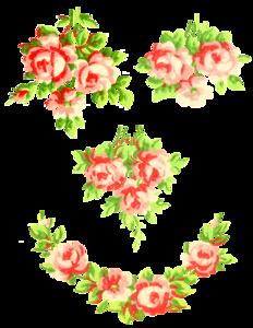 Romantic Pink Flower Border PNG Pic PNG Clip art