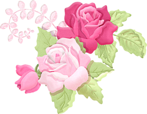 Romantic Pink Flower Border PNG Picture PNG icons