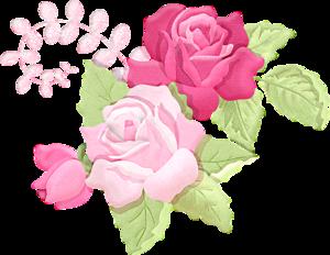 Romantic Pink Flower Border PNG Picture PNG Clip art
