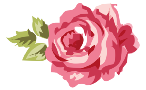 Romantic Pink Flower Border PNG Transparent Picture Clip art