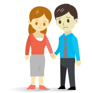 Sad Couple PNG File PNG Clip art
