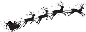 Santa Sleigh PNG File PNG Clip art