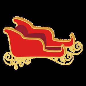 Santa Sleigh PNG Image PNG Clip art