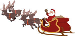 Santa Sleigh PNG Photo PNG Clip art