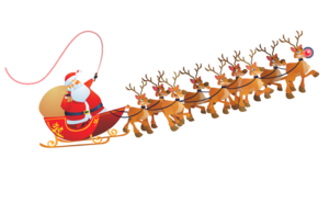Santa Sleigh PNG Picture PNG Clip art