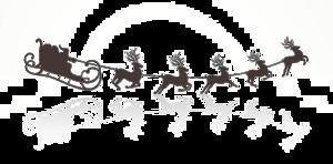 Santa Sleigh PNG Transparent Picture PNG Clip art