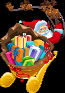 Santa Sleigh PNG Transparent PNG Clip art