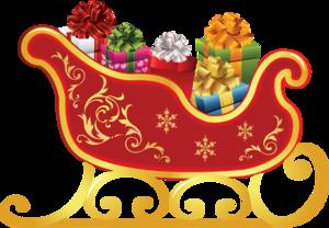 Santa Sleigh Transparent PNG PNG Clip art