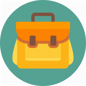 School Bag Transparent Background PNG icon