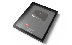 Silver Play Button PNG Image PNG Clip art