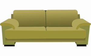 Sleeper Sofa Transparent PNG PNG Clip art
