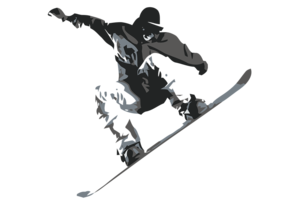 Snowboarding Jumping PNG Free Download PNG Clip art
