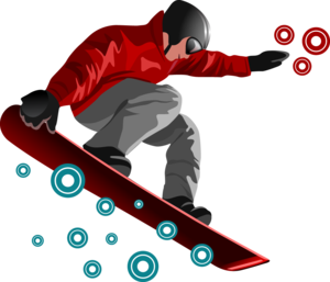 Snowboarding Jumping PNG Transparent PNG icon