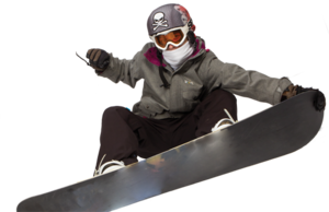 Snowboarding Jumping Transparent Background PNG icon