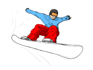 Snowboarding Jumping Transparent PNG PNG icon