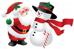 Snowman And Santa Claus PNG PNG Clip art