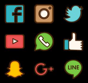 Social Media Download PNG Image PNG Clip art
