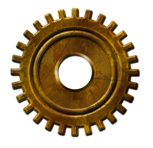 Steampunk Gear PNG File PNG Clip art