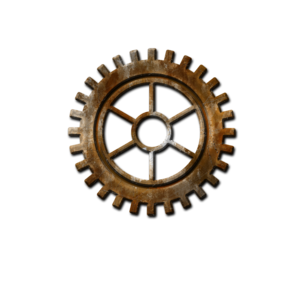 Steampunk Gear Transparent Background PNG Clip art