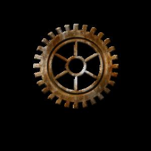 Steampunk Gear Transparent Background PNG Clip art