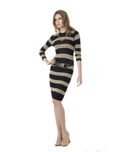 Striped Dress Transparent Background PNG Clip art