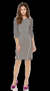 Striped Dress Transparent PNG PNG Clip art
