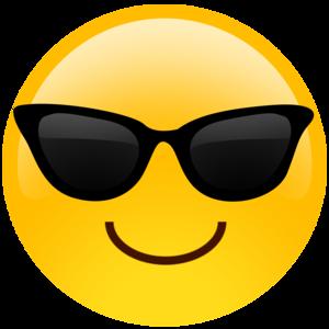 Sunglasses Emoji PNG HD Quality PNG Clip art