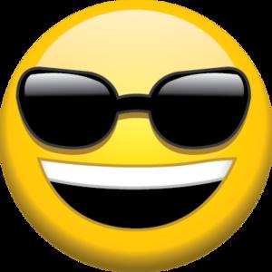 Sunglasses Emoji Transparent Background PNG Clip art