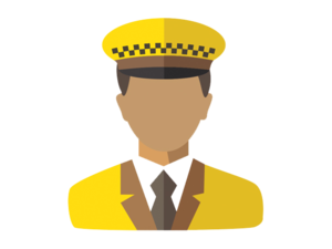Taxi Driver Transparent Background PNG Clip art