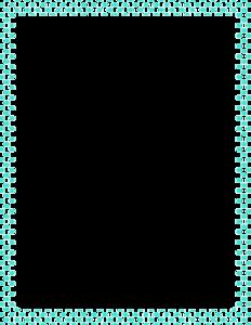 Teal Border Frame PNG Clipart PNG Clip art