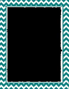Teal Border Frame PNG File PNG Clip art