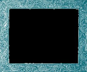 Teal Border Frame PNG Free Download PNG Clip art