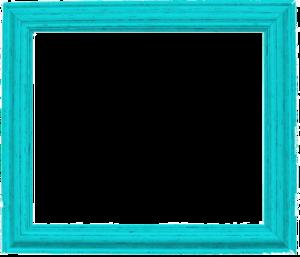 Teal Border Frame PNG Pic PNG Clip art