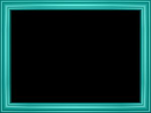 Teal Border Frame PNG Transparent Image PNG Clip art