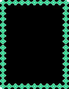 Teal Border Frame Transparent Background PNG Clip art