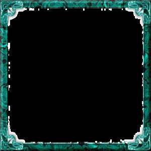 Teal Border Frame Transparent PNG PNG Clip art