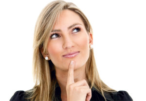 Thinking Woman PNG HD Quality PNG Clip art