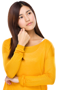 Thinking Woman PNG Transparent HD Photo PNG Clip art