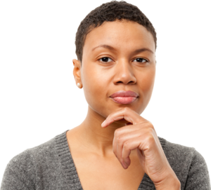 Thinking Woman PNG Transparent Image PNG Clip art