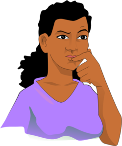 Thinking Woman Transparent PNG PNG Clip art