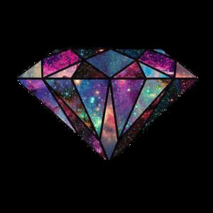 Transparent Diamond Galaxy Design PNG PNG Clip art
