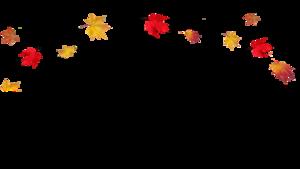 Transparent Fall Leaves Border PNG PNG Clip art