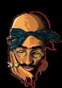 Tupac Shakur PNG Image Free Download PNG Clip art
