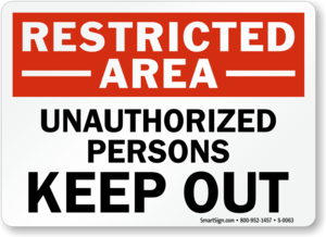 Unauthorized Sign PNG Free Download PNG Clip art