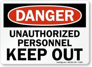 Unauthorized Sign PNG Photo PNG Clip art