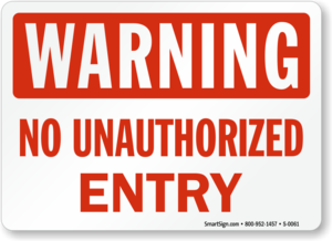 Unauthorized Sign Transparent Background PNG Clip art