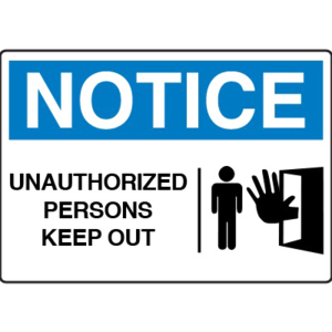 Unauthorized Sign Transparent PNG PNG Clip art