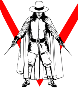 V For Vendetta Transparent Background PNG Clip art