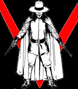 V For Vendetta Transparent Background PNG Clip art